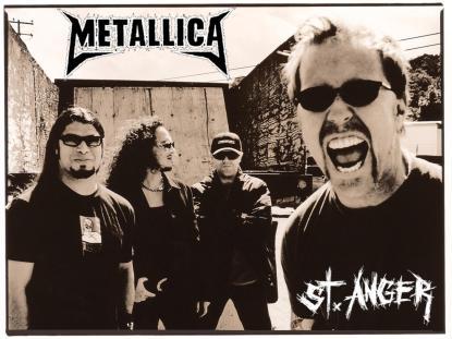 A nova e atual formação: Robert Trujillo baixo, Kirk Hammett guitarra solo, Lars Ulrich bateria, James Hetfield vocal/guitarra base.