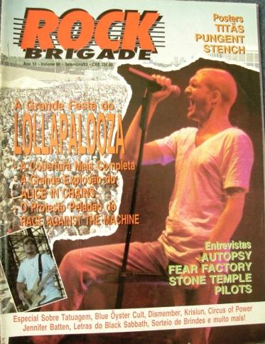 Capa da edição de setembro de 93 da Rock Brigade.