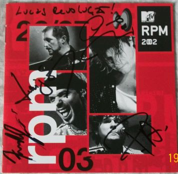 RPM MTV ao vivo autógrafado