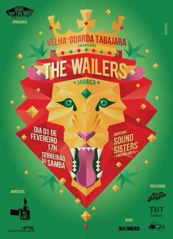 Pôster do show do Wailers em Uberlândia