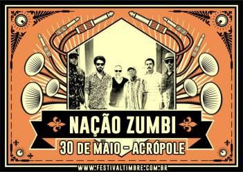 Anúncio do show da Nação Zumbi