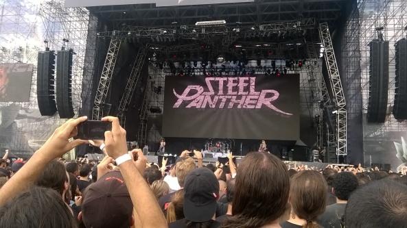 Iniciando as atividades com o Steel Panther.