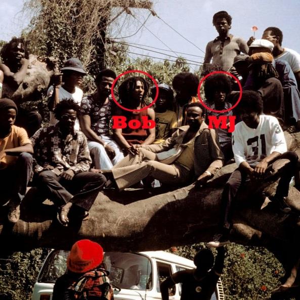 O lendário encontro de Bob Marley com o Jackson Five na Jamaica em 1975.