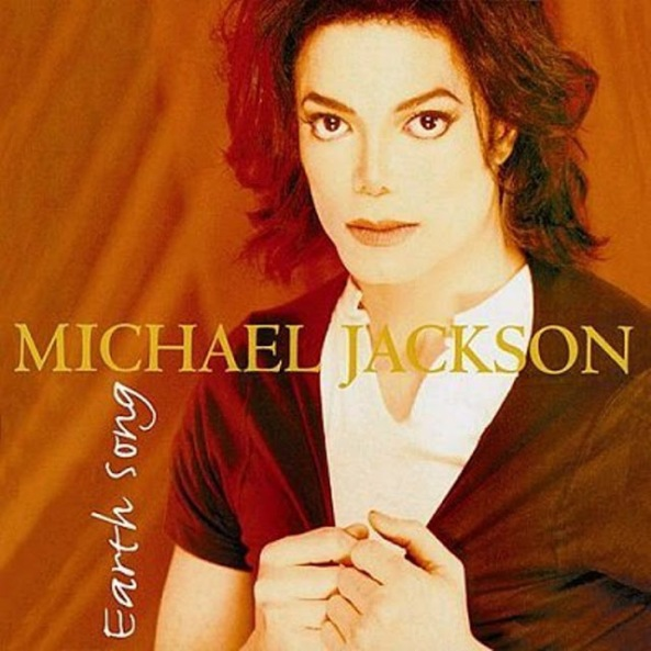 "Capa do single de ""Earth Song""."
