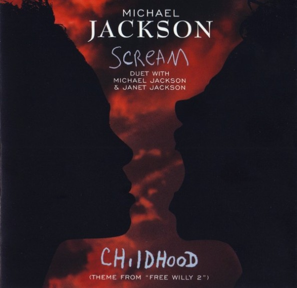 "Capa do single de ""Scream""."