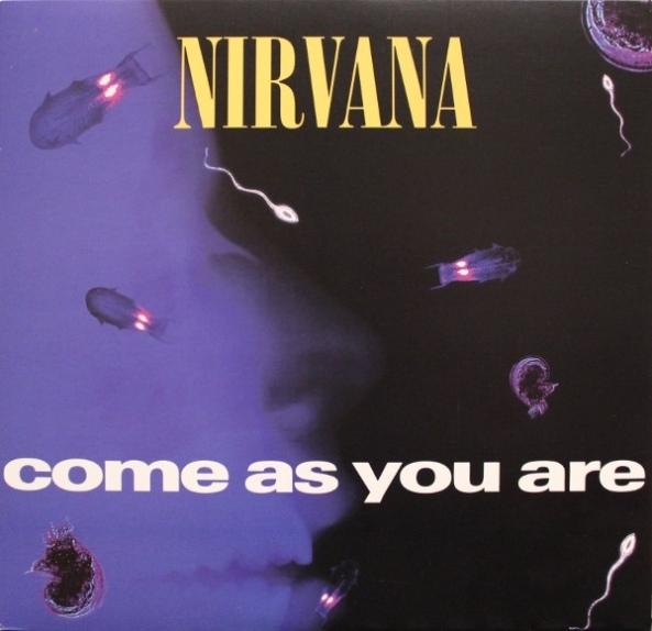 """Capa do single de """"Come As You Are""""."""